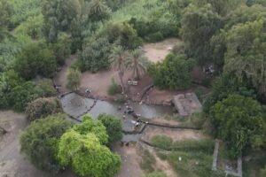 צילום אווירי של פארק הירדן