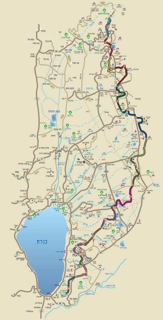 שביל הגולן מפה